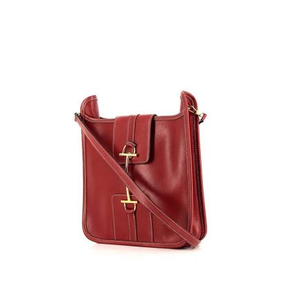 5ec7cd8c3aaa High Quality Hermès Replica Kilts handbag in red box leather ...