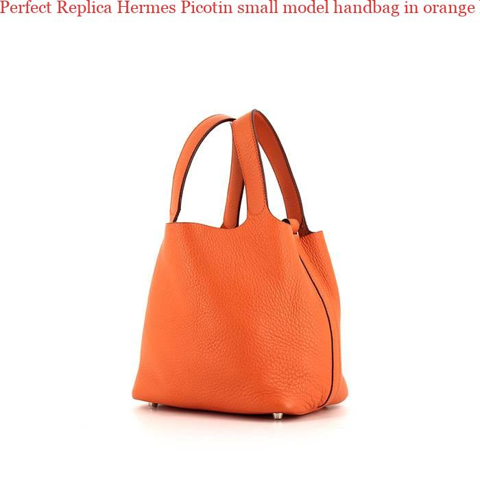 07379958c7 Perfect Replica Hermes Picotin small model handbag in orange leather  taurillon clémence