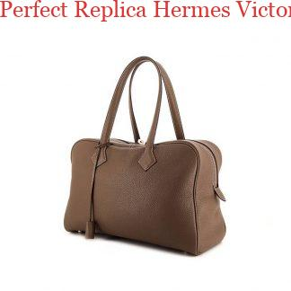 7f311bcb9532 Perfect Replica Hermes Victoria handbag in etoupe togo leather ...