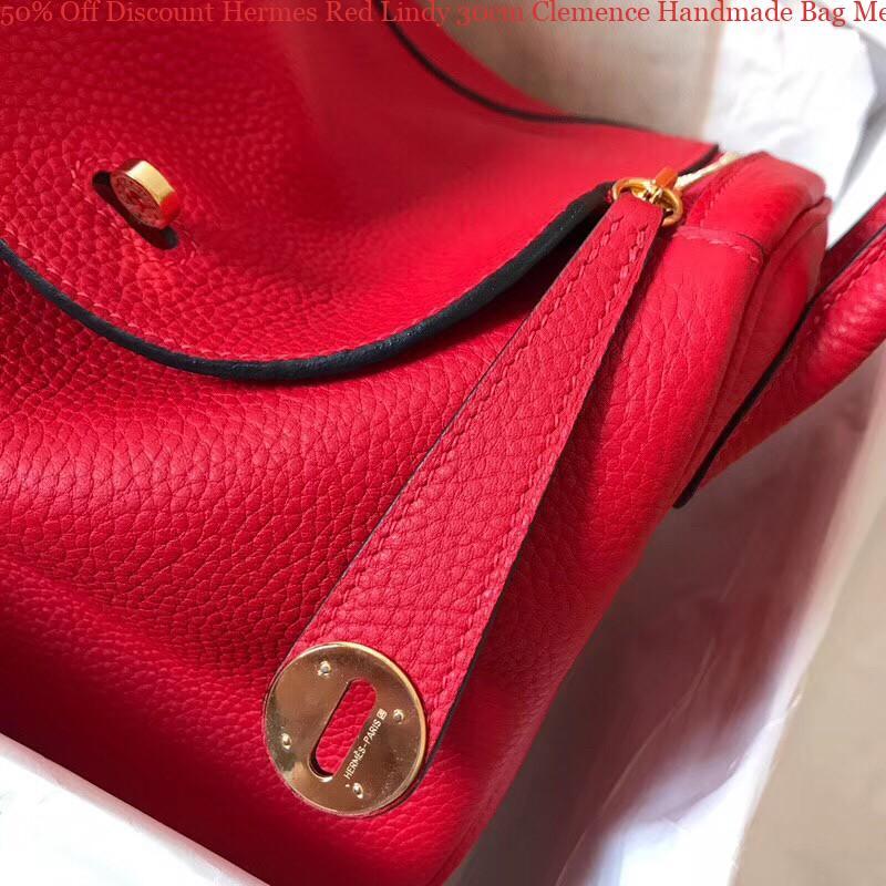 62896e95a7a 50% Off Discount Hermes Red Lindy 30cm Clemence Handmade Bag Memphis, TN -  hermes replica bearn wallet - 2648