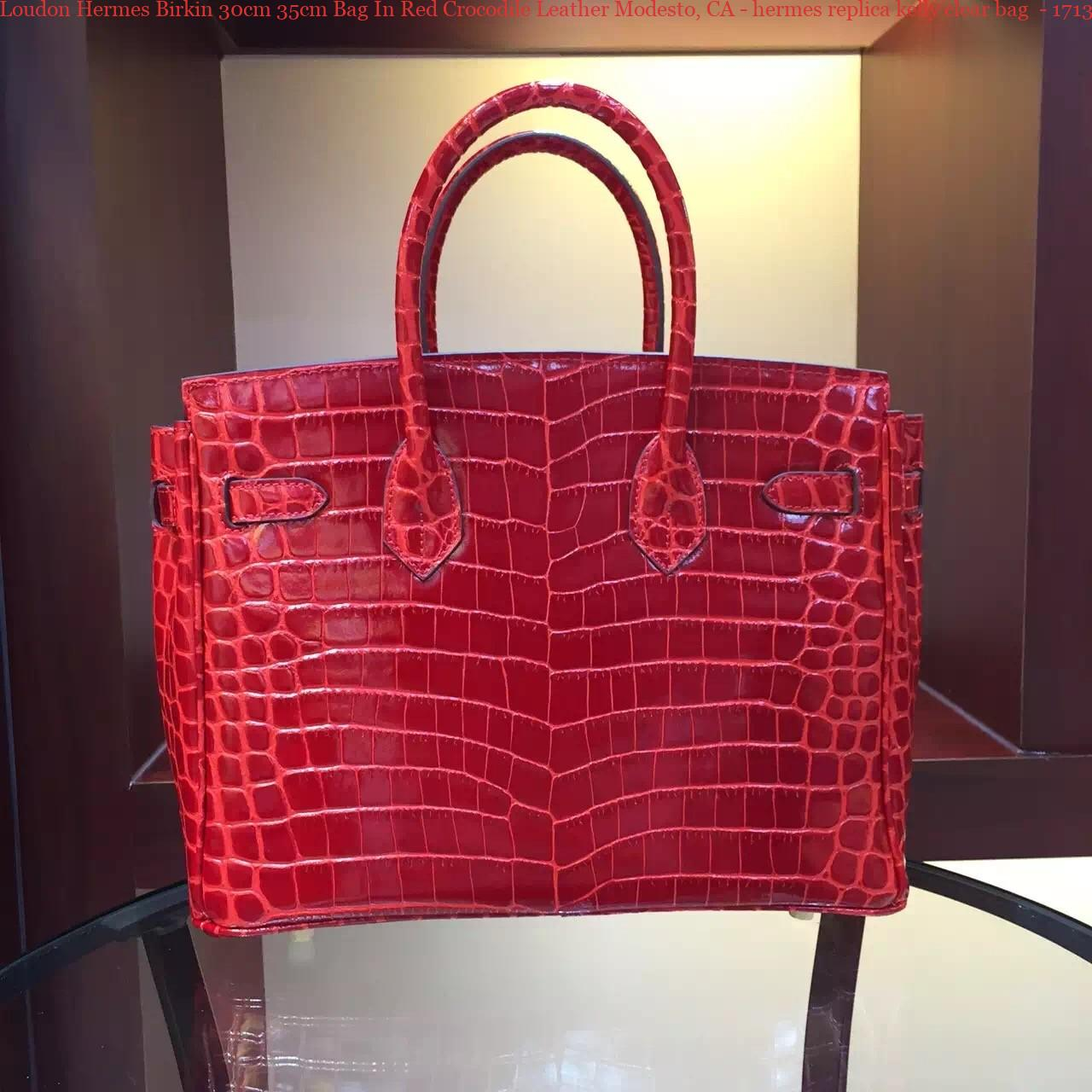 5040cdd7c6 Loudon Hermes Birkin 30cm 35cm Bag In Red Crocodile Leather Modesto ...