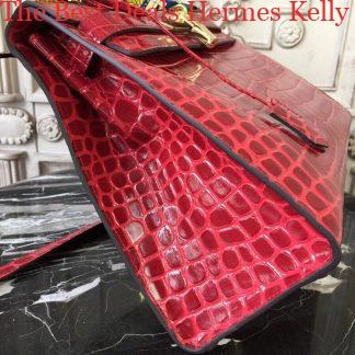 ad6265b54d0a You re viewing  The Best Deals Hermes Kelly 32cm Bag In Dark Red Crocodile  Leather Nashville
